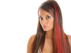 Dark Vs Bright Red Clip In Hair Extensions